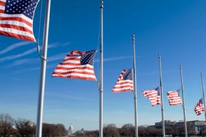 American Flags Half-Staff