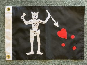 Appliqued Blackbeard Flag