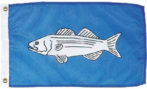 Striped Bass Fish Flag